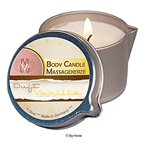 Body Candle Massagekerze Vanille 50ml