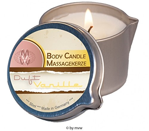Body Candle Massagekerze Vanille 50ml - Alba Massage-Öl