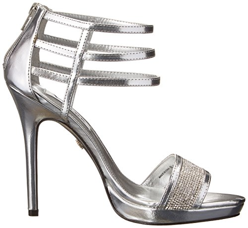Nina Fable Synthétique Sandales Silver Metallic