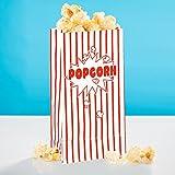 20x Popcorn Tüte Rot-Weiß Gestreift Classic - 13 x 25 cm - Popcorn Box für Kinoabend, Hollywood Party & Co - PARTYMARTY GMBH®