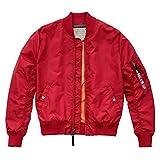Alpha Industries Jacke MA 1 TT, Größe:XL, Farbe:speed red