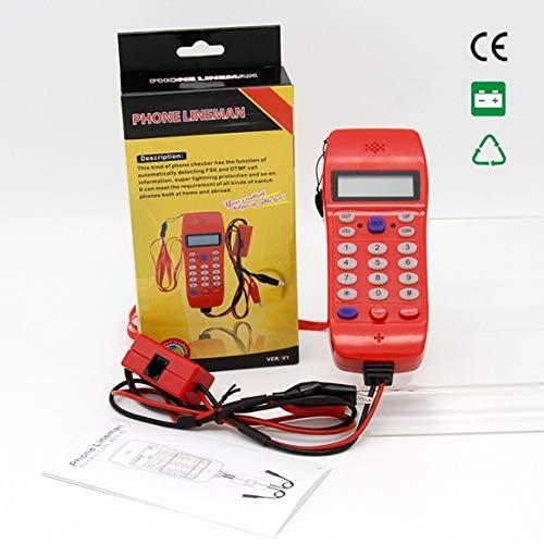 Kabel-tester Überprüfen (NF-866 Phone Line Kabel Tester mit Bildschirm Tele Glasfaser Optisches Werkzeug Überprüfen DTMF Anrufer ID Auto-Detection-Suche Maschine)
