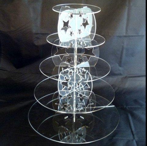 Fünf Ebenen klar Acryl Runde Schmetterlinge Hochzeit und Party Cake Stand Größe 150mm 190mm 240mm 285mm 335mm Standhöhe 400mm (40cm) â Zoll 15,2cm 19,1cm 22,9cm 27,9cm 33cm Acryl-schmetterling-kuchen-stand