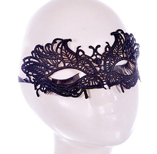 CAOLATOR Spitze Augenmaske Halloween Tanz Spitzenmaske Mysteriös Maskerade Halloween Maske Karneval Partei Masken (Frei Tanz Kostüm Muster)