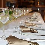KAKOO 12 Stück Serviettenringe Set, Metal Rose Morderne Serviettenhalter für Hochzeit Geburtstag Weihnachten Taufe Tisch Dekoration (golden) - 3