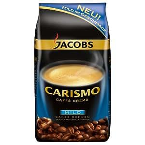 Jacobs Carismo Caffè Crema Mild, Kaffee, Ganze Bohnen, 1 kg