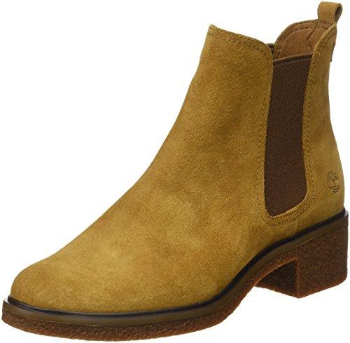 Timberland Damen Brinda Double Gore Chelsea Pull-On Chukka Boots, Braun (Tan), 39 EU (Tan Chukka)