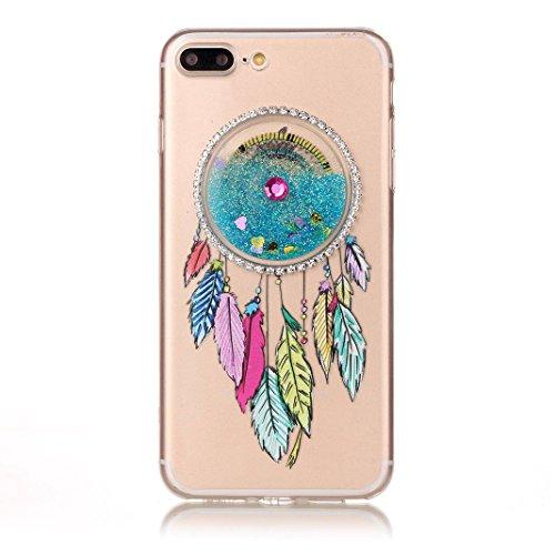 Housse iPhone 7 PLUS OuDu Étui en Glitter Silicone Attrapeur de Rêves Coloré [Housse de Flottant][Pas de Fuite] Coque Transparente Flexible Mince **NEW** Housse Sable Mouvant Bling Étui TPU de Haute Q Attrapeur de Rêves Coloré #2