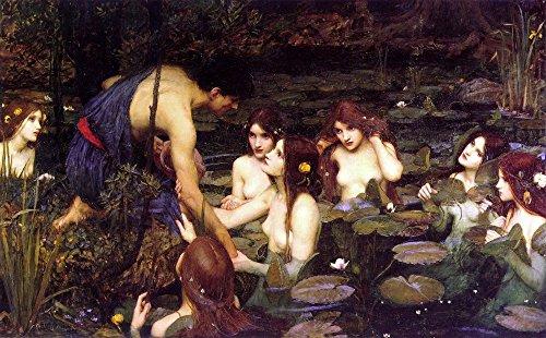Das Museum Outlet-Waterhouse Hylas und die Nymphen, Manchester Art Gallery 1896.15N2-Leinwand (61x 81,3cm)