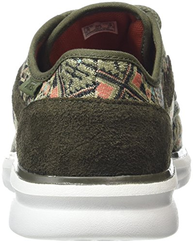 Vans Iso 2, Baskets Basses Mixte Adulte Multicolore (Moroccan Geo ivy green/white)
