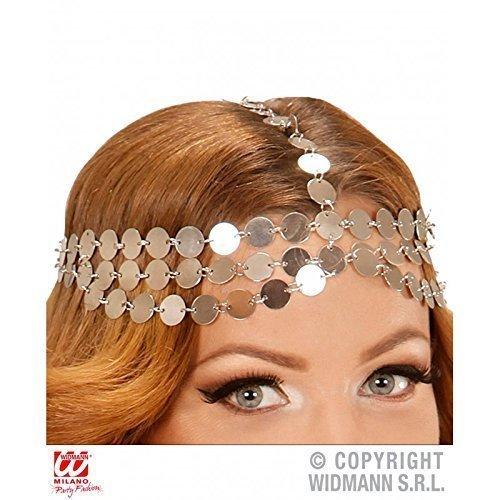 Kopfschmuck Metallplättchen für Kostüm Orient / Burgfräulein / Bauchtänzerin / Kopfbedeckung / (Schmuck Kostüm Göttin)