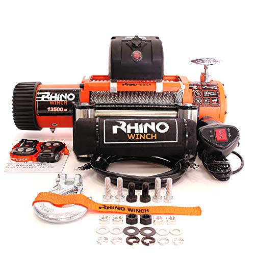 Rhino Electric Winch Wireless Recovery 12v 13500Lb / 6125Kg Test
