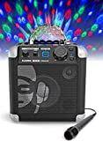iDance Cube BC100 Karaoke System with Built-In Lightshow - Black