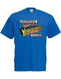 Yorkshireman T-Shirt Super Hero tee shirt apparel clothing great gift idea for him