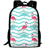 best& Stylish Green Flamingo Laptop Backpack School Backpack Bookbags College Bags Daypack