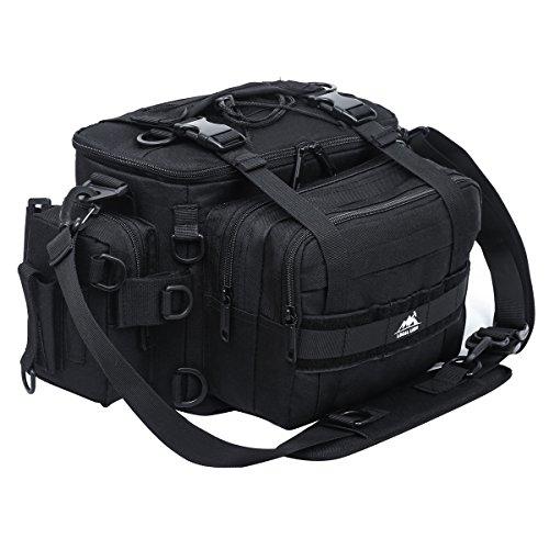 LOCAL LION Angeltasche Umhängetasche Lure Bag 7 Fächer wasserdicht klein 18 Liter für Angler zum Fischen(Fisching Artikel)