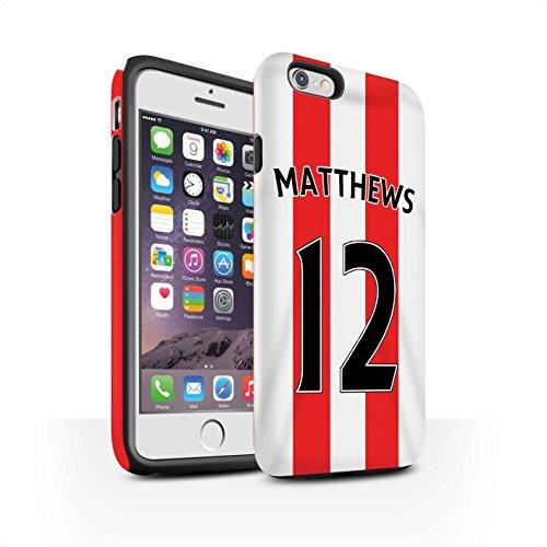 Offiziell Sunderland AFC Hülle / Matte Harten Stoßfest Case für Apple iPhone 6S / Pack 24pcs Muster / SAFC Trikot Home 15/16 Kollektion Matthews