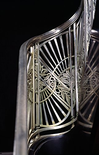 Panoramic Images - Close-up of Art Deco Stairway metalwork Two North Riverside Plaza 400 West Madison Street Chicago Illinois USA Photo Print (91,44 x 30,48 cm)