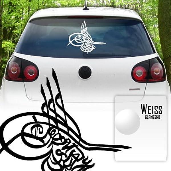 Tugra Osmanisches Zeichen Heckscheiben Aufkleber Jayess Auto