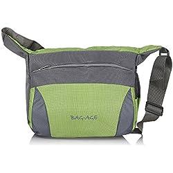Bag-Age School Satchels (10 L ) Boys Sling Bag Messenger Bag (Green)