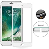 #4: Apple Iphone 6 / Apple Iphone 6s Full Body 5D Coloured 9H Hardness Anti-Scratch,Case Friendy Tempered Glass [Edge To Edge Screen Covered -Iphone 6/ Iphone 6s By Tingtong (White)