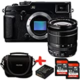 Bundle Fujifilm XPro2 Digital Camera with XF-18-55mm f2.8-f4 OIS zoom lens + Fuji Case + 2x Sandisk 32GB Ultra + NP-W126 Spare Battery (16MP, APS-C X-Trans CMOS Sensor) 3 inch