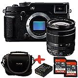Bundle Fujifilm XPro2 Digital Camera with XF-18-55mm f2.8-f4 OIS zoom lens + Fuji Case + 2x Sandisk 32GB Ultra + NP-W126 Spare Battery (24MP, APS-C X-Trans CMOS Sensor) 3 inch