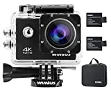 WiMiUS Action-Kamera 4K Action Cam WiFi 1080P 16MP Sports Action Camera Wasserdichte Helmkamera mit Transporttasche