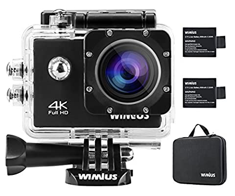 WiMiUS Action-Kamera 4K Action Cam WiFi 1080P 16MP Sports Action Camera Wasserdichte Helmkamera mit