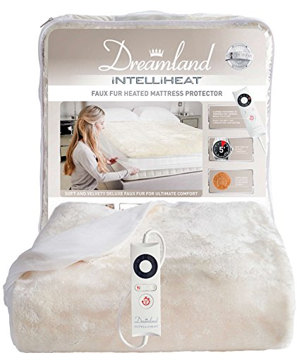 Dreamland Intelliheat Faux Fur Mattress Protector Double with 1 Control Best Price and Cheapest