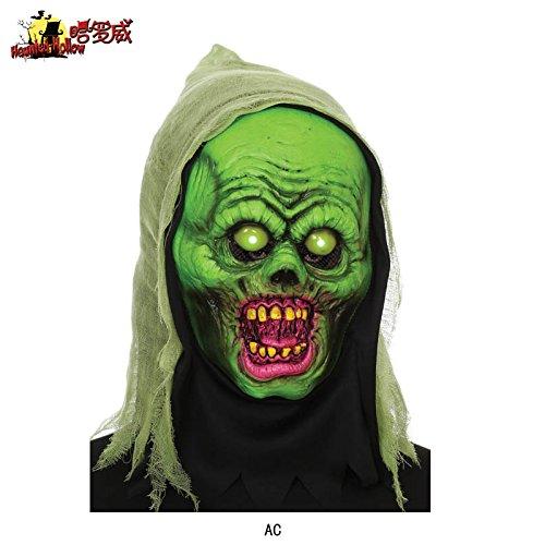 Halloween-Lichter Dämon Horror Schädel Gesicht Erwachsene Maske Nachtclub Party leuchtende Maske, B