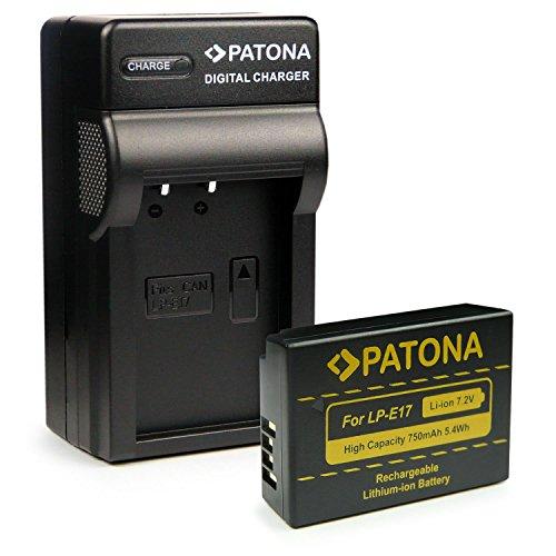 Galleria fotografica PATONA 3in1 Caricabatteria + Batteria LP-E17 per Canon EOS 750D | 760D | 8000D | Kiss X8i | Rebel | Rebel T6i | Rebel T6s | T6i | T6s