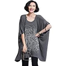 yjwan estate plus size abbigliamento donna morbido cotone maniche Loose tunica maglietta