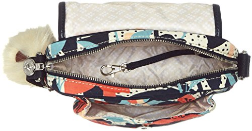 Kipling - Nuria, Borse a tracolla Donna Multicolore (Pastel Lily Qlt)