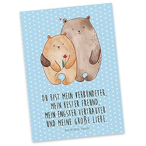 Mr. & Mrs. Panda Postkarte Bären Liebe - 100% handmade in Norddeutschland - Liebe, Verliebt, Verlobt, Verheiratet, Partner, Freund, Freundin, Geschenk Freundin, Geschenk Freund, Liebesbeweis, Jahrestag, Hochzeitstag, Verlobung, Geschenk Hochzeit, Bären, Bärchen, Bär Postkarte, Geschenkkarte, Grußkarte, Klappkarte, Karte, Einladung