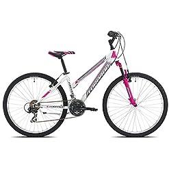 Torpado Bici mtb Earth 26'' donna 3x7v taglia 44 bianco fucsia v17 (MTB Donna) / Bicycle mtb Earth 26'' lady 3x7s size 44 white fucsia v17 (MTB Woman)
