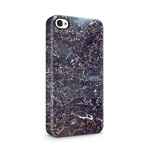 Rough Sapphire Marble Stone Print Apple iPhone 5 , iPhone 5S , iPhone SE Snap-On Hard Plastic Protective Shell Case Cover Custodia Rough Sapphire