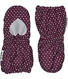 Racoon Baby-Mädchen Fäustlinge Sia dot Softshellfäustlinge (Wassersäule 5000), Mehrfarbig (Dark Purple DAR), S (Herstellergröße: 00-02)