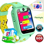 TURNMEON Smart Watch Phone GPS Tracker For Kids Girls Boys Smartwatch With Camera SOS Alarm Wrist Anti Lost Bracelet Children Holiday Birthday Gifts S6 Green