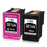 LxTek Remanufactured Ersatz für HP 301XL Druckerpatronen für HP DeskJet 1000 1050 1050A 2000 2050 2050A 2510 2540 3000 3010 3050 3050A 3510 Envy 4500 5300 OfficeJet 2620 4630 (1 schwarz, 1 Farbe)