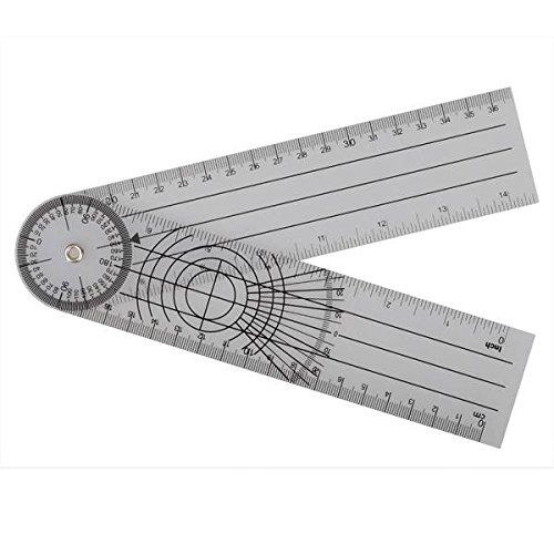 mark8shop userful multi-ruler 360Grad Goniometer Winkel Medical spinale Lineal cm/Zoll Big Verkauf