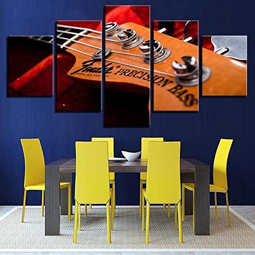 CNCN Canvas HD Modern Home Decor Impreso 5 Panel Instrumento