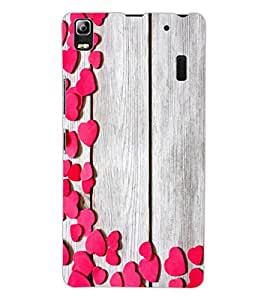 ColourCraft Beautiful Hearts Pattern Design Back Case Cover for LENOVO A7000 TURBO