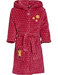 Playshoes Mädchen Bademantel Fleece-bademantel die Maus Pink