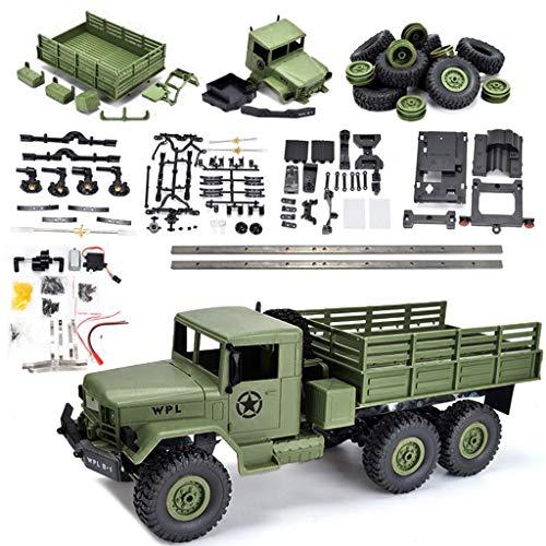 SMALLJUN Klettern Sie Wagen Deluxe, Wpl B-16 Kit 1/16 2,4 G 6Wd Crawler Off Road RC-Car-Set & Licht ohne elektrische Teile DIY Assembly-Modelle, grün -