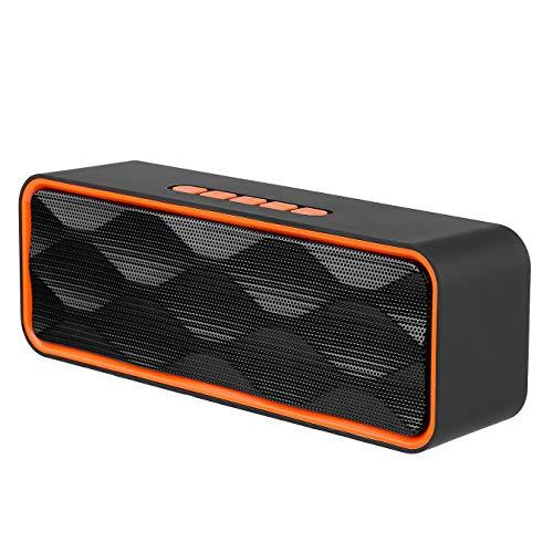 SANRENXING Bluetooth Lautsprecher, Outdoor Speaker Box,Tragbarer Dual-Drive-Bass Musikbox, Lautsprecher Boxen Bluetooth, Eingebautes Mikrofon, Kabelloser Lautsprecher für iPhone, Samsung usw. (Ipod-lautsprecher Tragbare Dock)