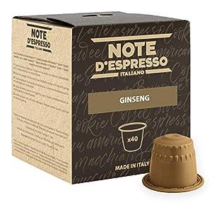 Note D'Espresso Preparato Solubile per Bevanda al Gusto di Ginseng - 172 g (40 x 4.3 g) Esclusivamente Compatibili con…