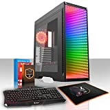 Fierce Quake High-End RGB Gaming PC Bundeln - Schnell 4.2GHz Hex-Core AMD Ryzen 5 2600X, 2TB SSHD, 16GB 2666MHz, AMD Radeon RX 580 8GB, Windows 10, Tastatur Maus (VK/QWERTY) 807150