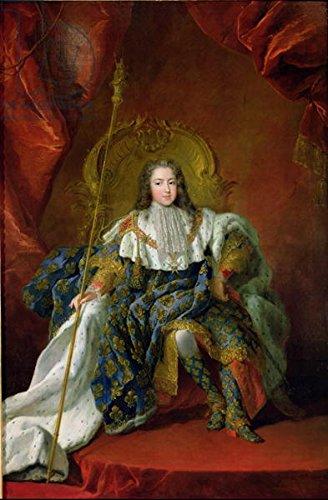 """Poster-Bild 30 x 50 cm: """"Louis XV (1710-74) 1723 (oil on canvas)"""", Bild auf Poster"""