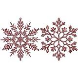 Sea Team Glitter Fiocchi di Neve in plastica Decorazione per L'Albero di Natale, 4-inch, Confezione da 36 Pezzi